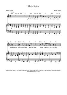 Holy Spirit: Клавир с вокальной партией by Wendy Pixner