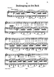 No.4 Благодарность ручью: Для голоса и фортепиано by Франц Шуберт