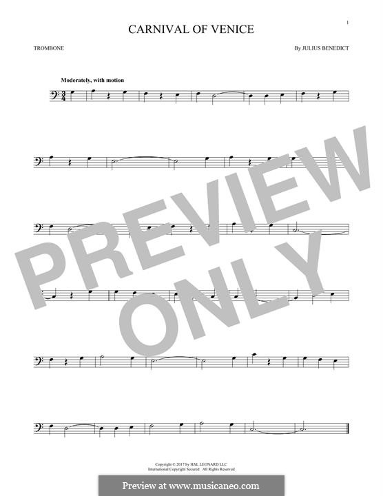 Carnival of Venice: For trombone by Джулиус Бенедикт
