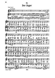 No.14 Охотник: Для голоса и фортепиано by Франц Шуберт