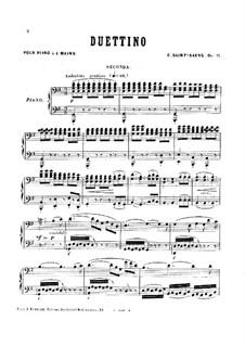 Дуэттино для фортепиано в четыре руки, Op.11: Дуэттино для фортепиано в четыре руки by Камиль Сен-Санс