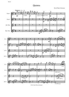 Quintra: Для квартета флейт by Дэвид Соломонс