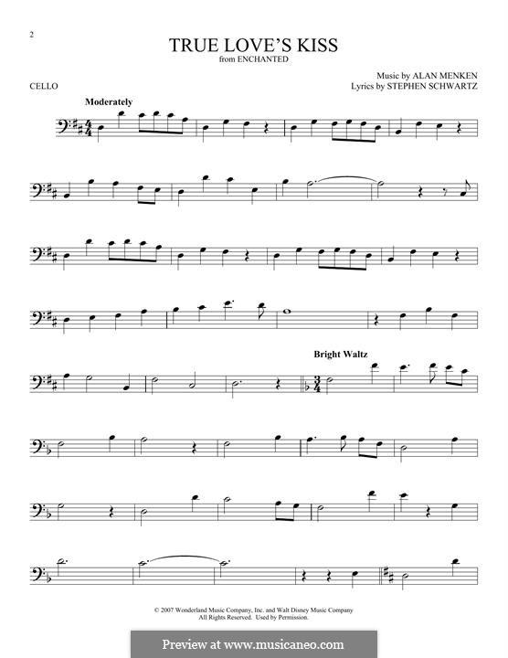 True Love's Kiss: Для виолончели by Alan Menken