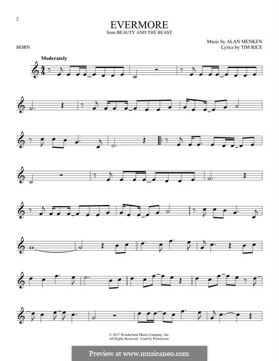 Evermore: For horn by Alan Menken