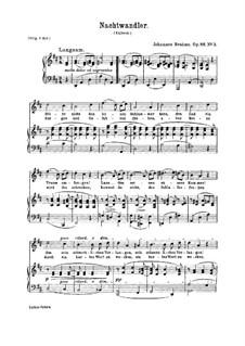 Шесть песен, Op.86: No.3 Nachtwandler (Sleepwalker) by Иоганнес Брамс