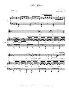 Аве Мария (вокально-фортепианная партитура), D.839 Op.52 No.6: For voice and piano (english lyrics - medium / high key) by Франц Шуберт