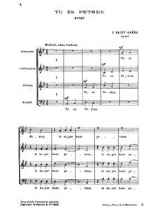 Tu es Petrus, Op.147: Tu es Petrus by Камиль Сен-Санс