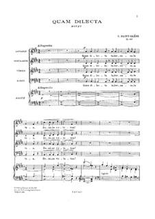 Quam Dilecta, Op.148: Quam Dilecta by Камиль Сен-Санс