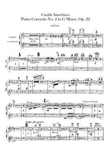 Концерт для фортепиано с оркестром No.2 соль минор, Op.22: Партии первой и второй флейт by Камиль Сен-Санс
