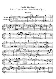 Концерт для фортепиано с оркестром No.2 соль минор, Op.22: Партии первого и второго гобоев by Камиль Сен-Санс