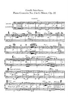 Концерт для фортепиано с оркестром No.2 соль минор, Op.22: Партии первого и второго фаготов by Камиль Сен-Санс