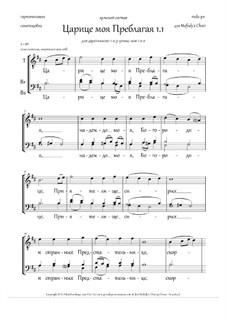 Царице моя Преблагая (на основе самоподобна, м.хор, 2-3 голоса, Hm) - RU: Царице моя Преблагая (на основе самоподобна, м.хор, 2-3 голоса, Hm) - RU by folklore
