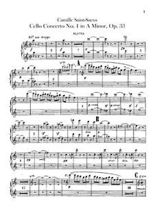 Концерт для виолончели с оркестром No.1 ля минор, Op.33: Партия флейт by Камиль Сен-Санс