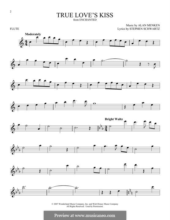 True Love's Kiss: Для флейты by Alan Menken