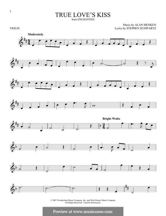 True Love's Kiss: Для скрипки by Alan Menken
