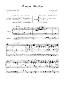 Героический марш, Op.34: Для органа by Камиль Сен-Санс