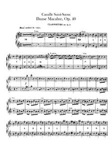 Пляска смерти, Op.40: Партии первых и вторых кларнетов by Камиль Сен-Санс