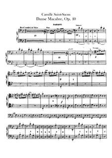 Пляска смерти, Op.40: Партии первых и вторых фаготов by Камиль Сен-Санс
