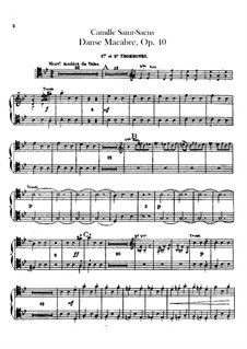 Пляска смерти, Op.40: Партии тромбонов и тубы by Камиль Сен-Санс
