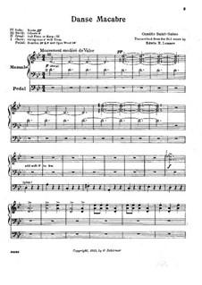 Пляска смерти, Op.40: Для органа by Камиль Сен-Санс