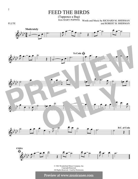 Feed the Birds (Tuppence a Bag): Для флейты by Richard M. Sherman, Robert B. Sherman