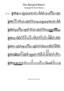 The Star Spangled Banner (National Anthem of The United States): For alto saxophone solo by Kevin Busse by Джон Стаффорд Смит