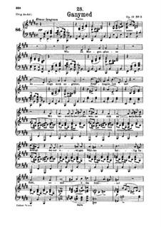 Ганимед, D.544 Op.19 No.3: Для низкого голоса и фортепиано by Франц Шуберт