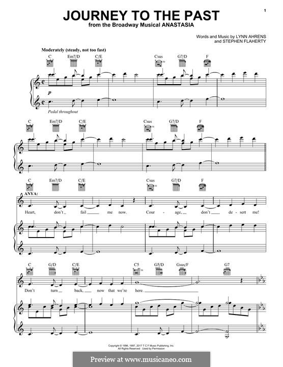 Journey to the Past: Для голоса и фортепиано (или гитары) by Lynn Ahrens, Stephen Flaherty