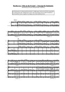 Ода к радости: For choir and symphonic orchestra by Людвиг ван Бетховен