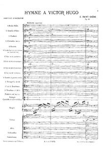 Гимн Виктору Гюго, Op.69: Партия оркестра by Камиль Сен-Санс