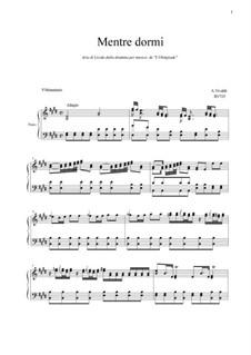 L'Olimpiade: Mentre dormi by Антонио Вивальди
