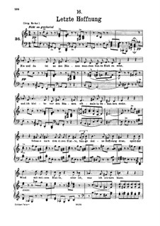 No.16 Последняя надежда: Для низкого голоса и фортепиано by Франц Шуберт