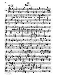 No.10 Отдых: Для низкого голоса и фортепиано by Франц Шуберт