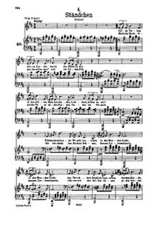 No.4 Серенада: Для низкого голоса и фортепиано by Франц Шуберт