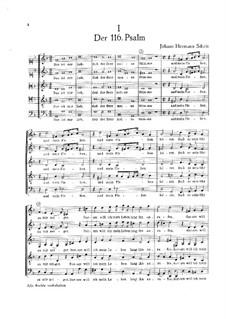 Псалм No.116: Псалм No.116 by Иоганн Германн Шайн
