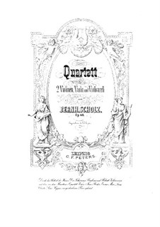 Струнный квартет No.1 соль мажор, Op.46: Скрипка II by Бернард Шольц