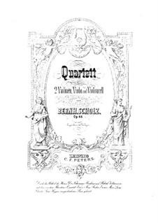 Струнный квартет No.1 соль мажор, Op.46: Партия альта by Бернард Шольц