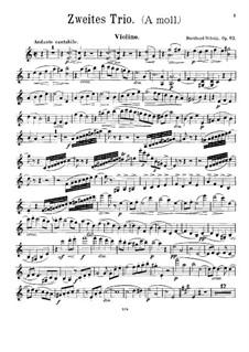 Фортепианное трио No.2 ля минор, Op.83: Партия скрипки by Бернард Шольц