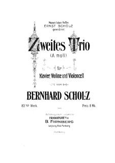 Фортепианное трио No.2 ля минор, Op.83: Партитура by Бернард Шольц
