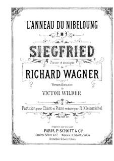Зигфрид, WWV 86c: Клавир с вокальной партией by Рихард Вагнер