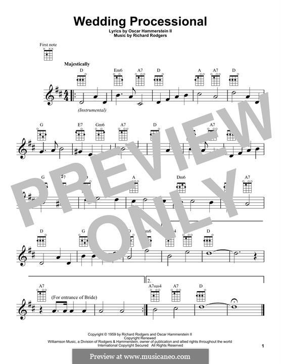 Wedding Processional: Для укулеле by Richard Rodgers