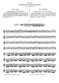 Школа смычковой техники, Op.1: Книга I by Отакар Шевчик