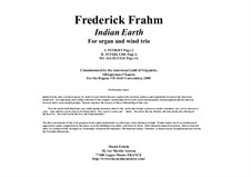 Indian Earth: For oboe (flute), Bb clarinet, bassoon and organ by Frederick Frahm