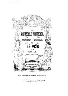 Скрипичная школа для начинающих, Op.6: Сборник II by Отакар Шевчик