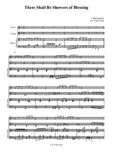 Showers of Blessing: For vocal, violin and piano by Джеймс  Макгранан