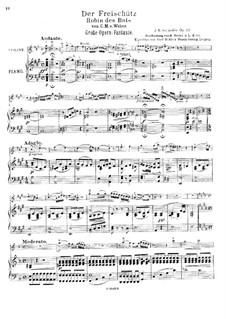 Фантазия на темы из оперы 'Волшебный стрелок' Вебера, Op.97: Партитура by Жан Батист Сенжеле