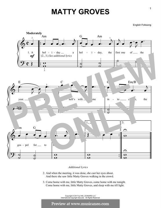 Matty Groves: Для фортепиано by folklore