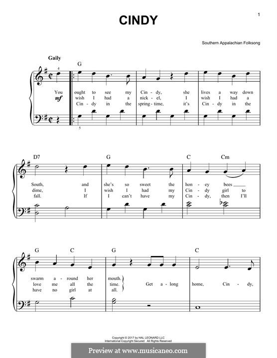 Cindy: Для фортепиано by folklore