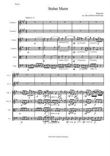 Stabat Mater: For 2 clarinets and string quartet by Джованни Баттиста Перголези