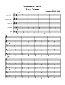 Канон ре мажор: Для квинтета медных духовых by Иоганн Пахельбель